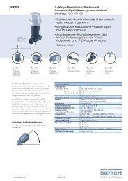 2-Wege-Membran-Stellventil, Kunststoffgehäuse, pneumatisch ...