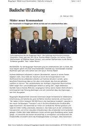 Mäder neuer Kommandant - Buggingen