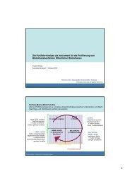 Die Portfolio-Analyse als Instrument für die Profilierung von ...