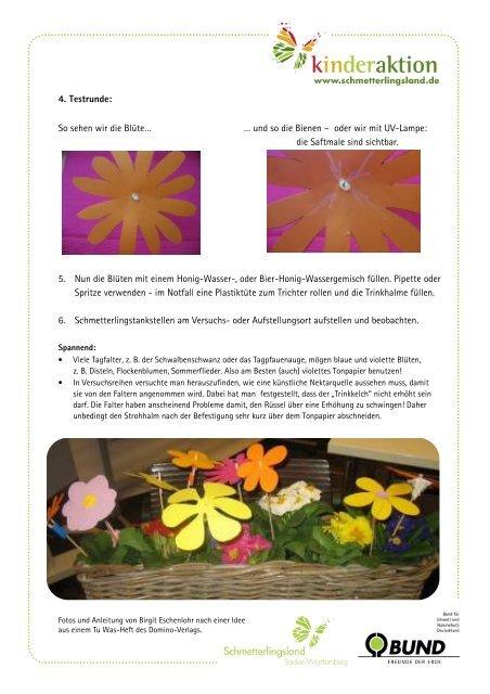13-4 Bastelanleitung Schmetterlingstankstelle