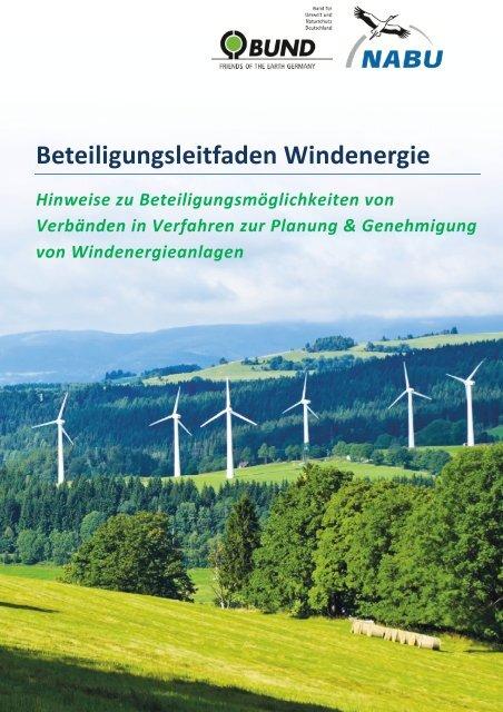 Beteiligungsleitfaden Windenergie - des BUNDs