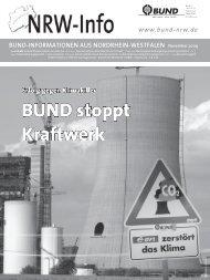 NRWinfo, Ausgabe November 2009 - BUND