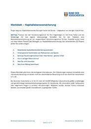 Merkblatt – Kapitallebensversicherung - Bund der Versicherten e.V.