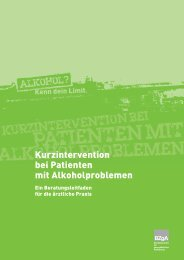 Kurzintervention bei Patienten mit Alkoholproblemen - Leitfaden für ...