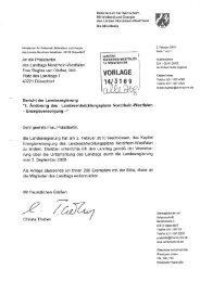 Bericht der Landesregierung - Bund