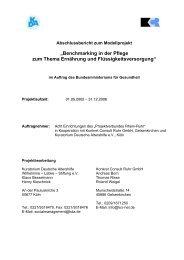 Abschlussbericht zum Projekt Benchmarking Massstaebe setzen in ...