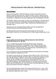Stiftung Deutscher Anteil des I. DEU/NLD Korps - Bundeswehr ...