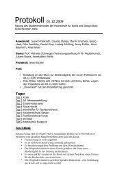 Protokoll 01.12.2009 - Burg Giebichenstein