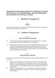 Förderprogramm zur Fassadengestaltung und - Stadt Burgau