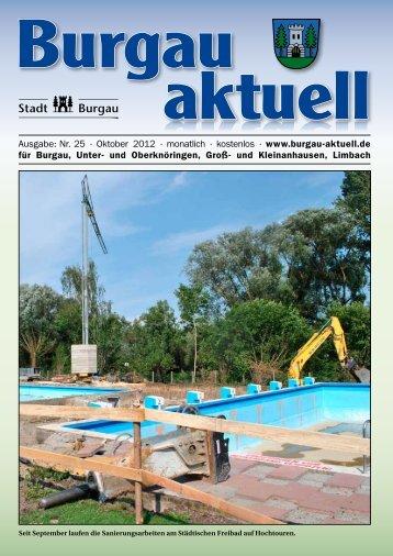 Ausgabe: Nr. 25 · Oktober 2012 · monatlich ... - Stadt Burgau