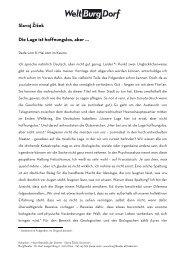Rede von Slavoj Žižek - DEUTSCHE VERSION - Burgtheater