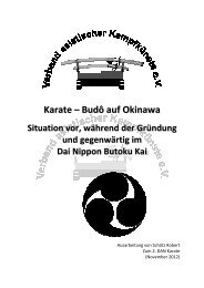 Karate – Budô auf Okina awwa - Bushido - Kai