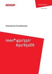 Bedienungsanleitung Develop Ineo+ 452 / 552 / 652 ... - Buschkamp