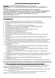 Sitzung des Gemeinderates vom 20. Dezember 2012 Anwesend ...