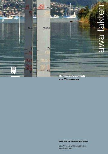 Hochwasserschutz am Thunersee - Bau-, Verkehrs - Kanton Bern