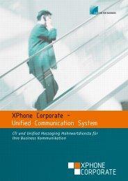 Datenblatt XPhone Corporate UCS Server - bei der BVG!