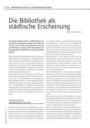 Die Bibliothek als städtische Erneuerung