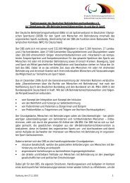Positionspapier des DBS zur UN-Behindertenrechtskonvention