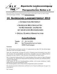 B L V - Behinderten- und Versehrten-Sportverband Bayern e.V.