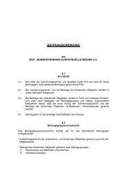 BEITRAGSORDNUNG - Bundesverband Audiovisuelle Medien