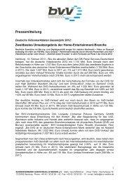 Pressemitteilung Jahreszahlen 2012. 14.02.2013 - Bundesverband ...