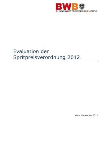 Evaluation der Spritpreisverordnung 2012 (Stand Februar ... - BWB
