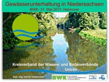 """Organisation WRRL """"Ist"""" - BWK Niedersachsen-Bremen"""