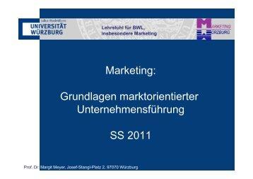 Marketing: Grundlagen marktorientierter Unternehmensführung SS ...