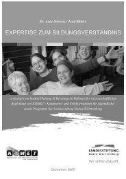 Expertise zum Bildungsverständnis - Baden-Württemberg Stiftung