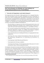 Die Netzwerkanalyse als Methode zur Untersuchung von ...