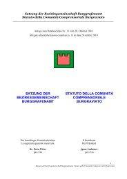 Lo statuto della Comunità comprensoriale del Burgraviato