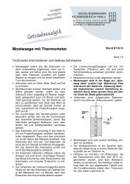 Mostwaage mit Thermometer