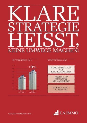 Geschäftsbericht 2012 - CA Immo