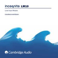 Local Input Module Installationsleitfaden - Cambridge Audio