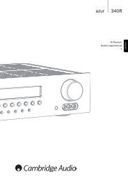 AP215821 Azur 340R User's Manual - 01 GER ... - Cambridge Audio