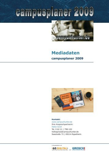 Mediadaten campusplaner 2009 - campushunter.de