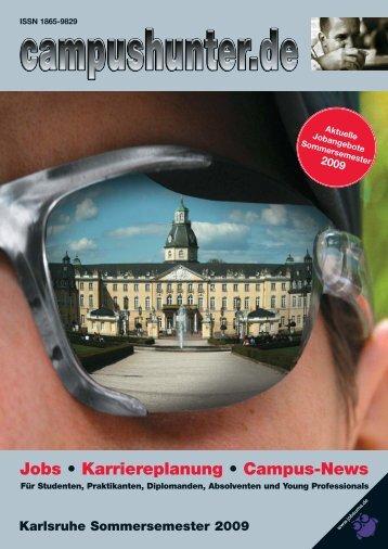 Ausgabe Karlsruhe - Sommersemester 2009 - campushunter.de