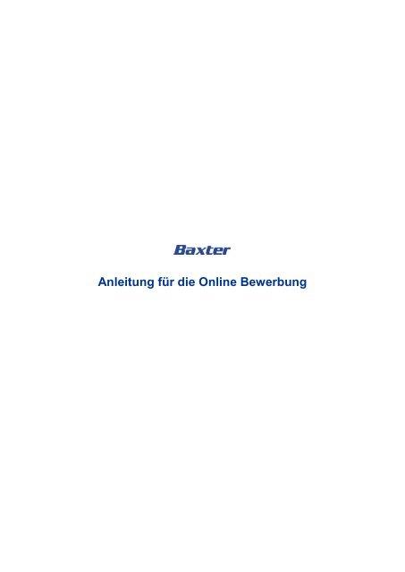 Anleitung Zur Online Bewerbung Pdf 646 Kb Baxter Careers