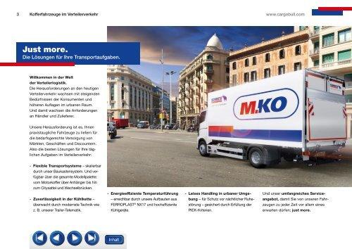 M.KO Kofferaufbauten für die Verteilerlogistik - Schmitz Cargobull AG