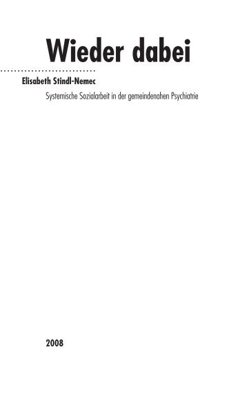 1 Stindl-Nemec Titelei - Carl-Auer Verlag