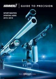 Hämmerli Sportwaffen 2013/14 Gesamtprospekt D / E - Walther