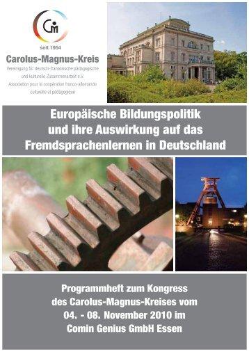 Programmheft - Carolus-Magnus-Kreis eV