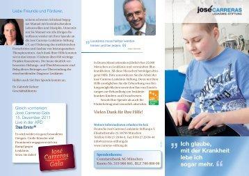03/2011 - Deutsche José Carreras Leukämie-Stiftung e.V.