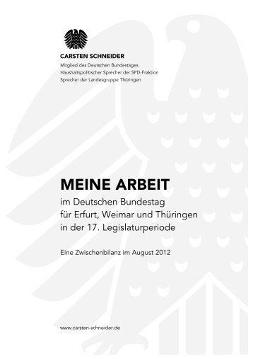 Eine Zwischenbilanz der 17. Legislaturperiode - Carsten Schneider