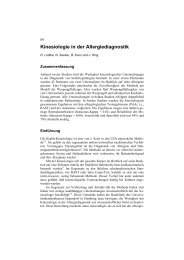 Kinesiologie in der Allergie-Diagnostik