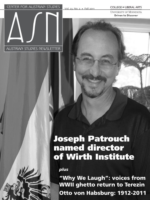 Fall 2011 - Center for Austrian Studies - University of Minnesota