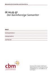 Lk 10,25ff barmherzige Samariter - CBM