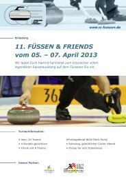 11. FÜSSEN & FRIENDS vom 05. – 07. April 2013 - Curling Club ...