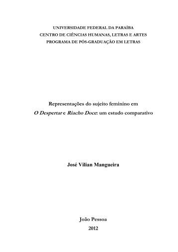 Representações do sujeito feminino em O Despertar e Riacho Doce ...