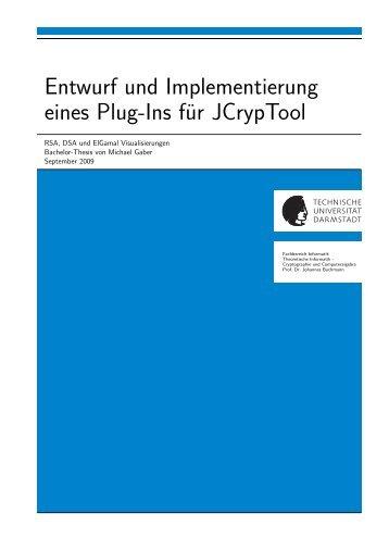 Entwurf und Implementierung eines Plug-Ins für JCrypTool - CDC ...
